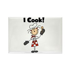 Female Chef I Cook Rectangle Magnet (100 pack)