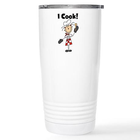 Female Chef I Cook Stainless Steel Travel Mug