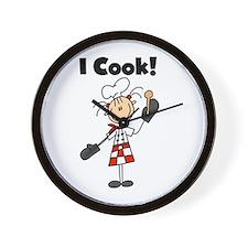 Female Chef I Cook Wall Clock