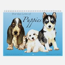 Puppies Wall Calendar