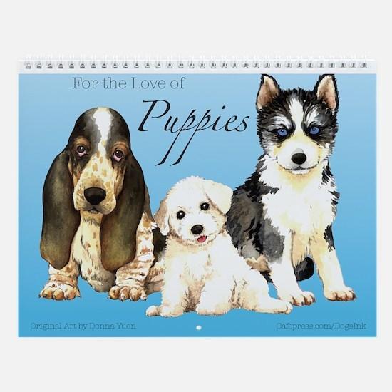 Puppies Wall Calendar