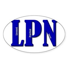 Blue LPN Oval Decal