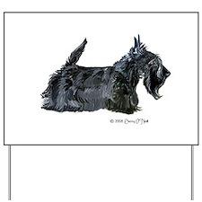 Scottish Terrier Profile Yard Sign