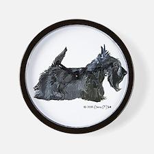 Scottish Terrier Profile Wall Clock