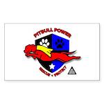 Pit Bull Power Rectangle Sticker 50 pk)