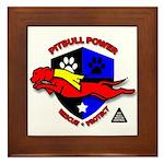 Pit Bull Power Framed Tile