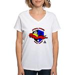 Pit Bull Power Women's V-Neck T-Shirt