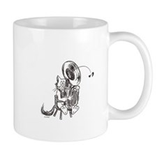 Catoons tuba cat Mug