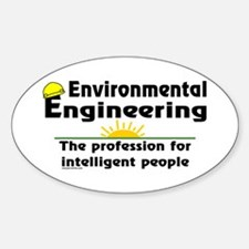 Environmental Genius Oval Decal