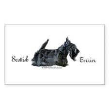 Scottish Terrier Profile Rectangle Decal