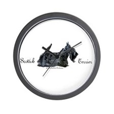 Scottish Terrier Profile Wall Clock