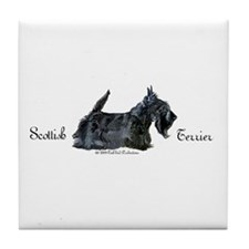 Scottish Terrier Profile Tile Coaster