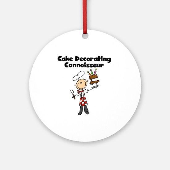 Male Cake Decorator Ornament (Round)