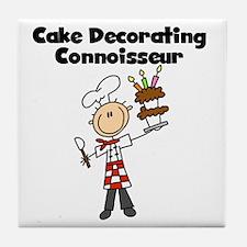 Male Cake Decorator Tile Coaster
