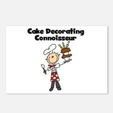 Male Cake Decorator Postcards (Package of 8)
