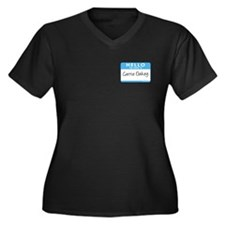 Carrie Oakey Women's Plus Size V-Neck Dark T-Shirt
