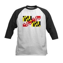 Maryland Flag Kids Baseball Jersey