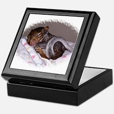 Little Infant Squirrel Keepsake Box