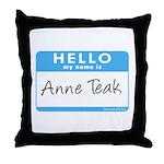 Anne Teak Throw Pillow