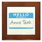Anne Teak Framed Tile