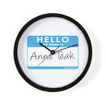 Anne Teak Wall Clock
