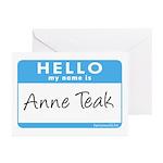 Anne Teak Greeting Cards (Pk of 20)