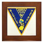 Magnolia Bike Police Framed Tile