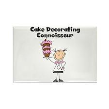 Female Cake Decorator Rectangle Magnet