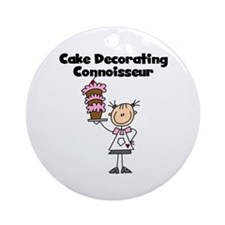 Female Cake Decorator Ornament (Round)