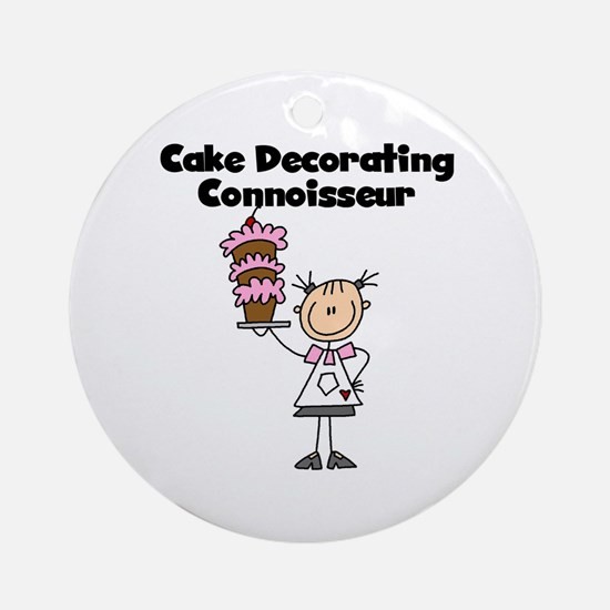 Female Cake Decorator Ornament (Round)