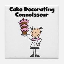 Female Cake Decorator Tile Coaster