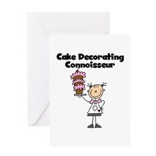 Female Cake Decorator Greeting Card