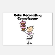 Female Cake Decorator Postcards (Package of 8)
