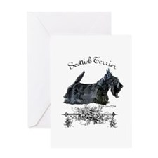 Scottish Terrier Profile Greeting Card