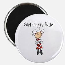 "Girl Chefs Rule 2.25"" Magnet (10 pack)"