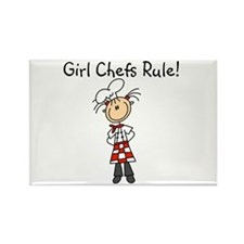 Girl Chefs Rule Rectangle Magnet (100 pack)