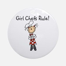 Girl Chefs Rule Ornament (Round)