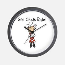 Girl Chefs Rule Wall Clock