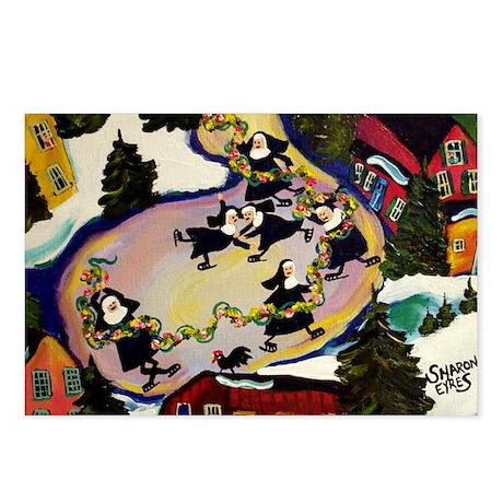 NUN CAPADES FOLK ART Postcards (Package of 8)