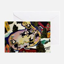 NUN CAPADES FOLK ART Greeting Card
