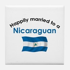 Happily Married Nicaraguan 2 Tile Coaster