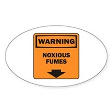 Warning Fumes Oval Decal