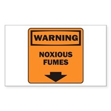 Warning Fumes Rectangle Decal