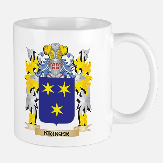Kruger Coat of Arms - Family Crest Mugs