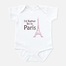 I'd Rather Be In Paris Infant Bodysuit