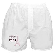 I'd Rather Be In Paris Boxer Shorts