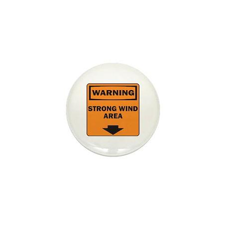 Warning Wind Mini Button (100 pack)