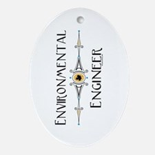 Environmental Engineer Oval Ornament