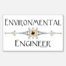 Environmental Engineer Rectangle Decal
