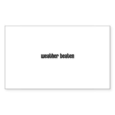 Weather beaten Rectangle Sticker